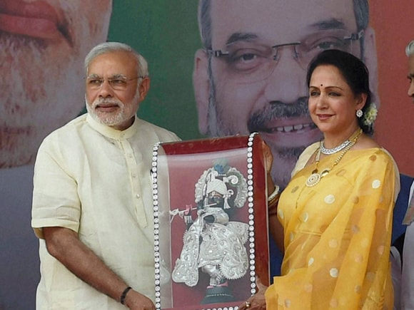 Prime Minister of India, Narendra Modi, Jan Kalyan Rally, Hema Malini, UP governor, Ram Naik, Deendayal Dham, Mathura