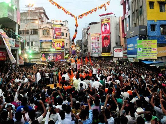 Govinda, Janmashtami festival, Dahi Handi festival, Dahi Handi, Dahi Handi photos, Human pyramid, Lord Krishna, Krishna Jayanthi