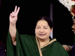 J Jayalalithaa at a mass marriage of party functionaries including that of Ministers' children in Chennai