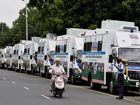 Jayalalithaa, Animal Ambulance, Animal Mobile Medical