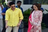 Sachin Tendulkar along with Neeta Ambani