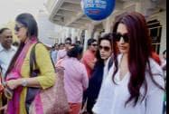 Film actors Neelam, Tabu and Sonali Bendre arrive in Jodhpur