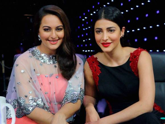 Shruti Hassan, Sonakshi Sinha, Idol Junior, Indian Idol Junior, Mumbai, Welcome Back, Welcome Back Trailer