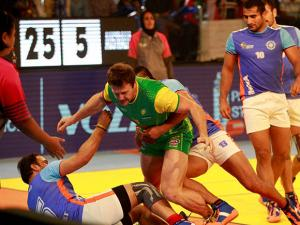 India vs Australia during the _third match of Kabaddi Worldcup 2016