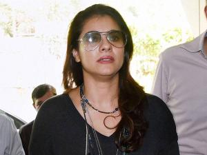 Actress and part-time member of Prasar Bharati Board Kajol  arrives to attend a board meeting in New Delhi