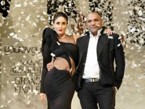 Kareena Kapoor walks the ramp showcasing an outfit by designer Gaurav Gupta