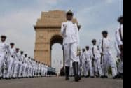Navy jawans leave after Kargil Vijay Diwas function at Amar Jawan Jyoti