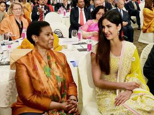 Phumzile Mlambo-Ngcuka  with bollywood actress Katrina Kaif