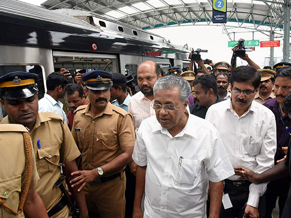 Kochi Metro, Kochi Metro Rail, Pinarayi Vijayan, Metro train, Kochi, Kerala