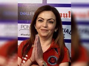 Nita Ambani during ISL match in Kolkata