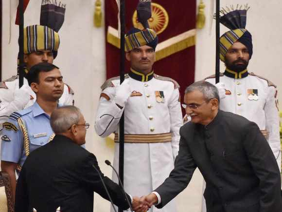 Central Vigilance Commissioner, KV Chowdary,President of India, Pranab Mukherjee, Rashtrapati Bhavan, New Delhi