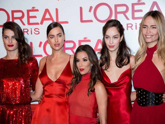 l'oréal paris, l'oreal paris post party beauty box, karlie kloss short hair, irina shayk and bradley cooper, eva longoria engaged, lewis hamilton hat