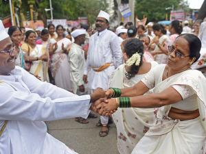 On the occasion of ''Ashadi Ekadash,'' pilgrims participate in a procession of Lord Vitthal