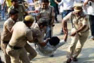Congress protest against Modi, Sushma Swaraj