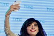 Bollywood actress Chitrangada Singh takes a selfie