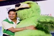 Legendary Cricketer Sachin Tendulkar during the launch of Kaspersky Kids