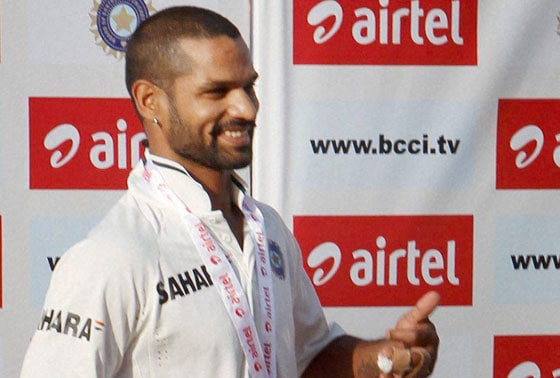 Shikhar Dhawan after winning Man of the Match
