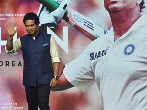 Former Indian Cricketer Sachin Tendulkar during his biographical Film 'Sachin A Billion Dreams