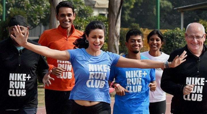 Actress, Gul Panag, crickter, Parthiv Patel, participate, run, launch, Nike Run Club, New Delhi