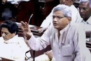 Sitaram Yechury speaks in the Rajya Sabha