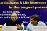 Finance Minister Arun Jaitley  Union Railway Minister Suresh Prabhu  and MoS (Finance) Jayant Sinha at
