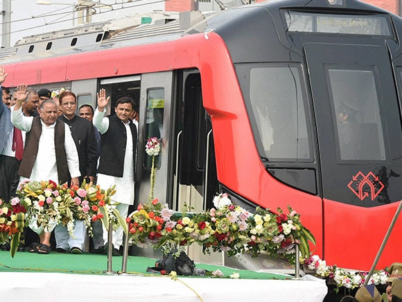 Metro, Lucknow Metro, SP, Akhilesh Yadav, Mulayam Singh Yadav, UP, Uttar Pradesh