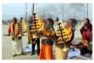 Maa Ganga Arti,  in Allahabad