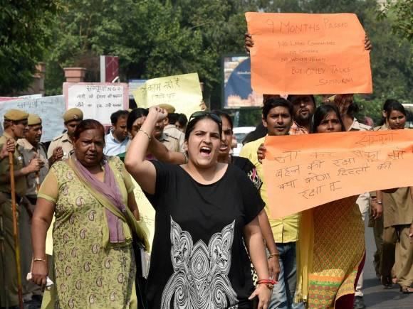 Congress, Kejriwal, Delhi government, AAP government, Mahila Congress, Sharmistha Mukherjee, rape case