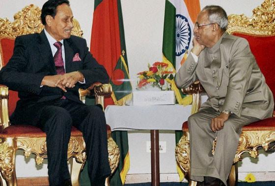 Pranab Mukherjee, HM Ershad,