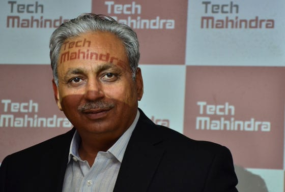 CP Gurnani, Managing Director, Tech Mahindra at the press confrence to announce the merger of Mahindra Satyam with Tech Mahindra