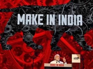 Prime Minister Narendra Modi addresses during the inauguration of the Make in India Week in Mumbai
