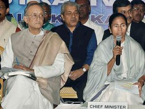West Bengal Chief Minister Mamata Banerjee addresses State Government officials