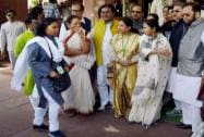Mamata Banerjee along with TMC MP's arrive for a meeting with Prime Minister Narendra Modi
