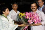 Mamta Banerjee meets Arvind Kejriwal