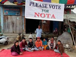 A group of Manipuri youths appeal voters to Vote for  None Of The Above (NOTA)