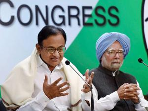 Former Finance Minister P Chidambaram speaks to media after release 'The REAL State of Economy Report- 2017' at AICC in New Delhi