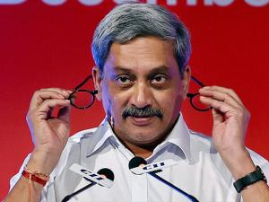 Manohar Parrikar addressing the Army Technology Seminar