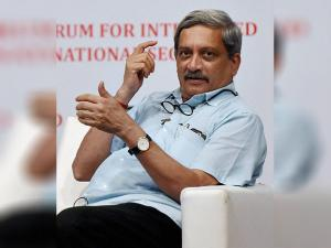 Manohar Parrikar  during Integrated National Security (FINS) organised interact session in Mumbai
