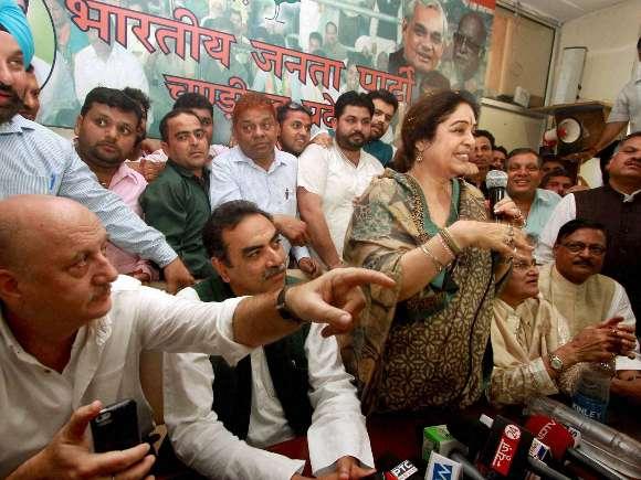 BJP, Lok Sabha, Anupam Kher, Kirron Kher