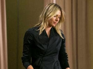 Tennis star Maria Sharapova speaks_during a news conference in Los Angeles