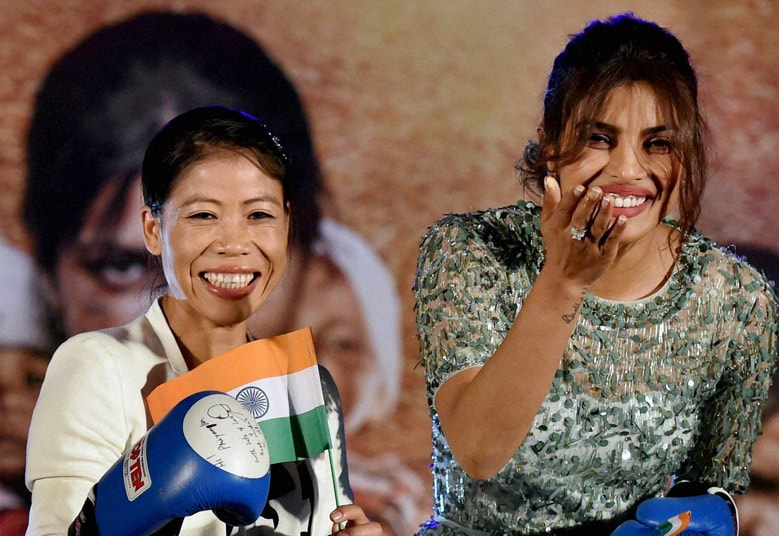 Bollywood actress, Priyanka Chopra, World Champion Boxer MC Mary Kom