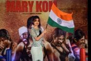 Bollywood actress Priyanka Chopra during the promotion of her forthcoming film Mary Kom