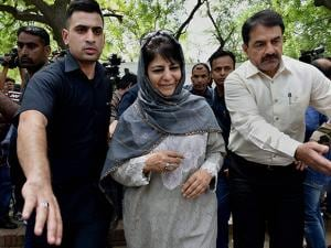 J and K Chief Minister Mehbooba Mufti after a meeting with Prime Minister Narendra Modi