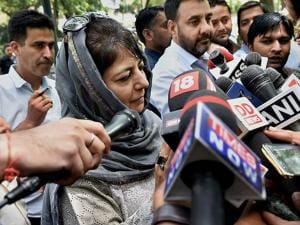 Mehbooba Mufti after a meeting with Prime Minister Narendra Modi