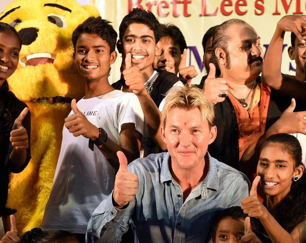 Australian cricketer, Bret Lee, program, organised, foundation, Mewsic,  Mumbai