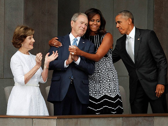 African American History, Michelle Obama, George W. Bush, Barack Obama, Laura Bush, Museum of African American History