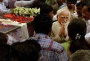 Hamid Ansari at BJP headquarters