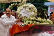 M Venkaiah Naidu at BJP headquarters