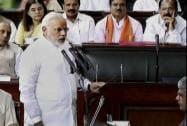 Modi takes oath