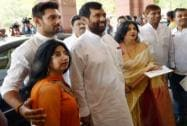 Ramvilas Paswan at Parliament House